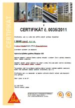 SIKA certifikát