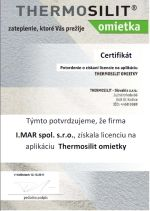 Thermosilit certifikát